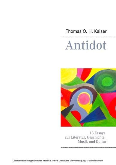Antidot - Blick ins Buch