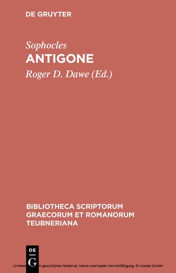 Antigone - Blick ins Buch