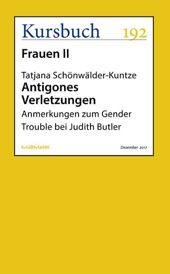 Antigones Verletzungen - Blick ins Buch