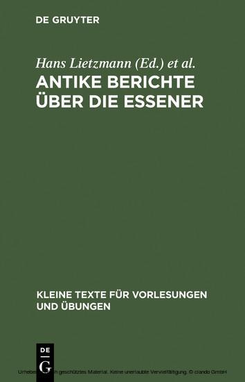 Antike Berichte über die Essener - Blick ins Buch