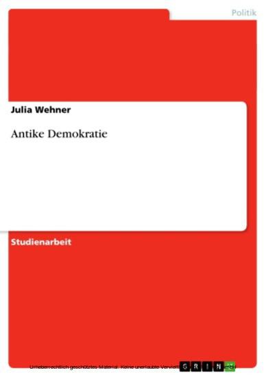 Antike Demokratie - Blick ins Buch