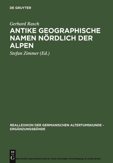 Antike geographische Namen nördlich der Alpen - Blick ins Buch