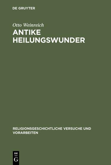 Antike Heilungswunder - Blick ins Buch