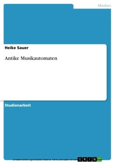 Antike Musikautomaten - Blick ins Buch
