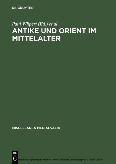 Antike und Orient im Mittelalter - Blick ins Buch
