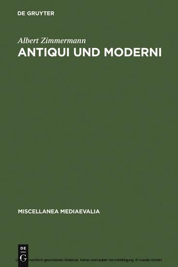 Antiqui und Moderni - Blick ins Buch