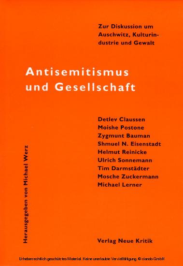 Antisemitismus und Gesellschaft - Blick ins Buch