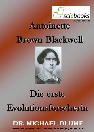 Antoinette Brown Blackwell - Blick ins Buch