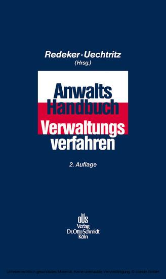 Anwalts-Handbuch Verwaltungsverfahren - Blick ins Buch