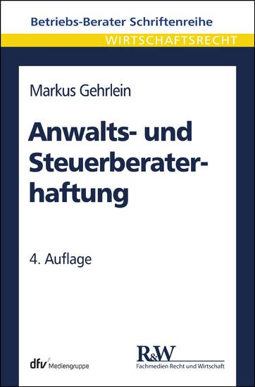 Anwalts- und Steuerberaterhaftung - Blick ins Buch
