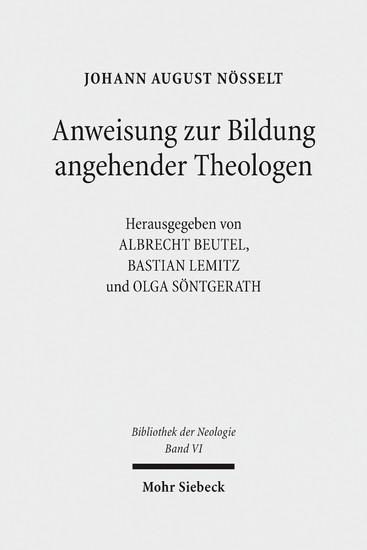 Anweisung zur Bildung angehender Theologen - Blick ins Buch