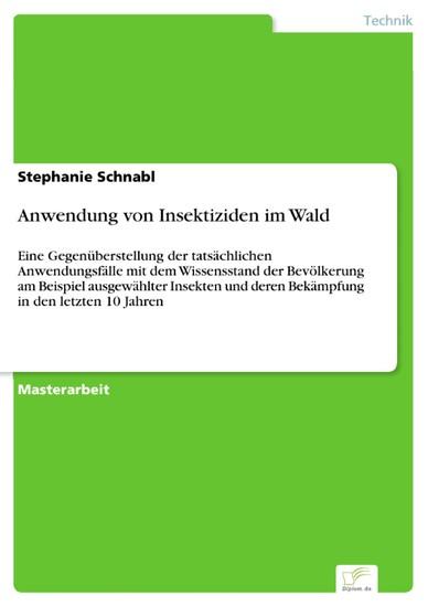 Anwendung von Insektiziden im Wald - Blick ins Buch