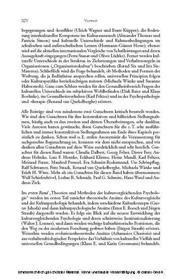 Anwendungsfelder der kulturvergleichenden Psychologie ( Enzyklopädie der Psychologie : Themenbereich C : Ser. 7 ; Bd. 3) - Blick ins Buch