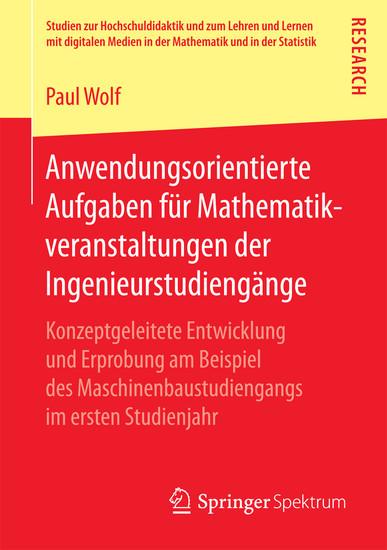 Anwendungsorientierte Aufgaben für Mathematikveranstaltungen der Ingenieurstudiengänge - Blick ins Buch