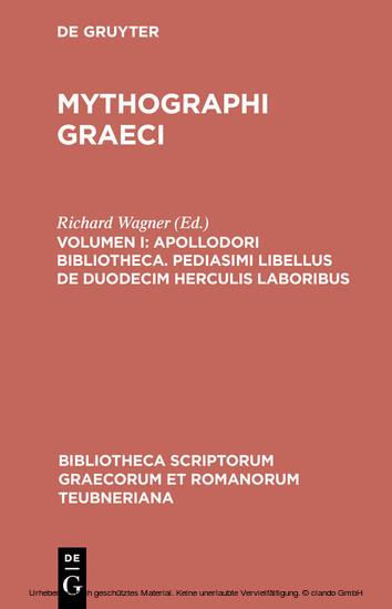 Apollodori bibliotheca. Pediasimi libellus de duodecim Herculis laboribus - Blick ins Buch