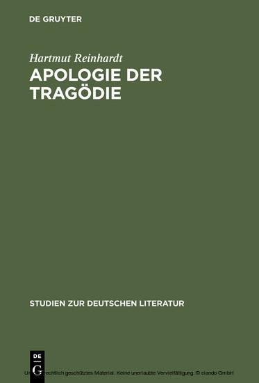 Apologie der Tragödie - Blick ins Buch