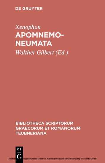 Apomnemoneumata - Blick ins Buch