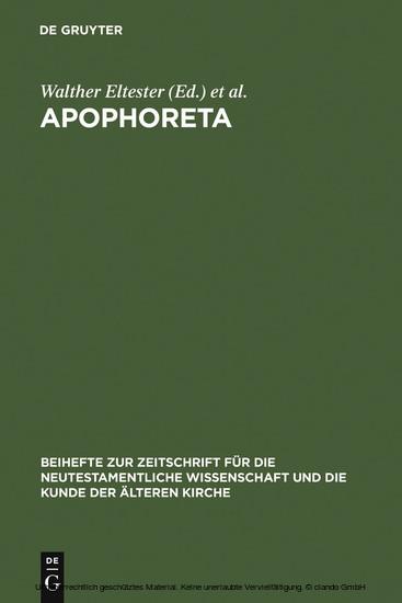 Apophoreta - Blick ins Buch