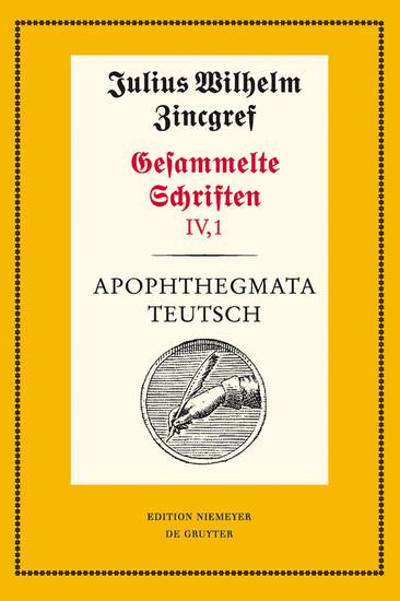 Apophthegmata teutsch - Blick ins Buch