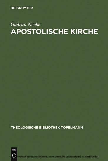 Apostolische Kirche - Blick ins Buch