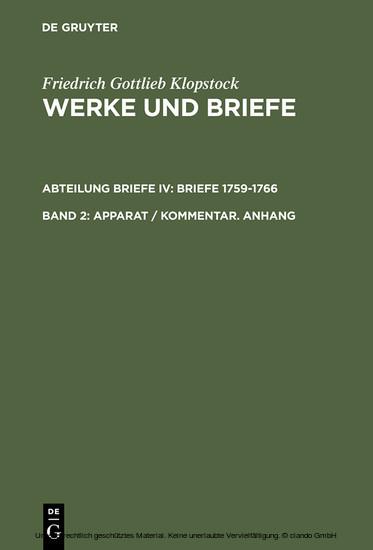 Apparat / Kommentar. Anhang - Blick ins Buch