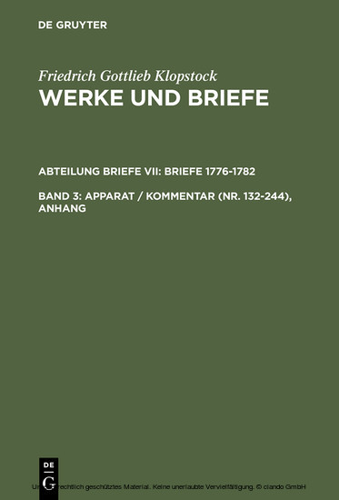 Apparat / Kommentar (Nr. 132-244), Anhang - Blick ins Buch