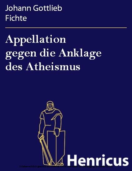 Appellation gegen die Anklage des Atheismus - Blick ins Buch