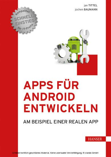 Apps für Android entwickeln - Blick ins Buch