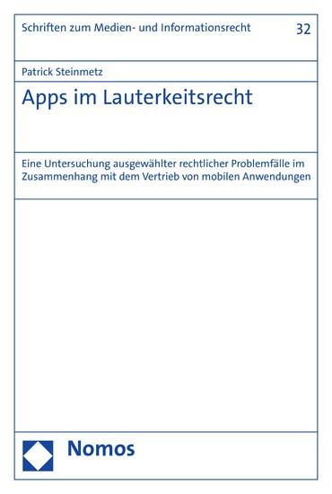 Apps im Lauterkeitsrecht - Blick ins Buch