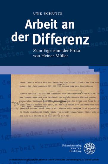 Arbeit an der Differenz - Blick ins Buch