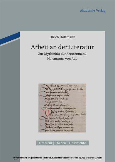 Arbeit an der Literatur - Blick ins Buch