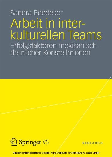 Arbeit in interkulturellen Teams - Blick ins Buch