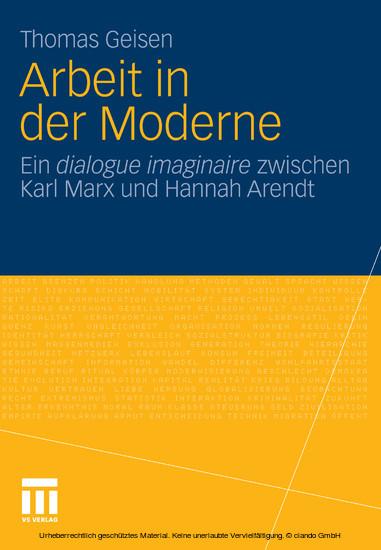 Arbeit und Subjektwerdung in der Moderne - Blick ins Buch