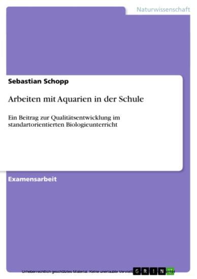 Arbeiten mit Aquarien in der Schule - Blick ins Buch