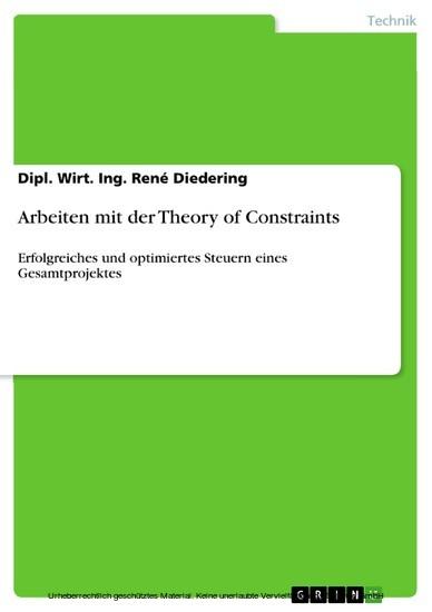 Arbeiten mit der Theory of Constraints - Blick ins Buch