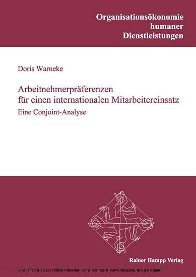 Arbeitnehmerpräferenzen für einen internationalen Mitarbeitereinsatz - Blick ins Buch