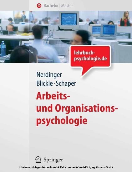 Arbeits- und Organisationspsychologie - Blick ins Buch