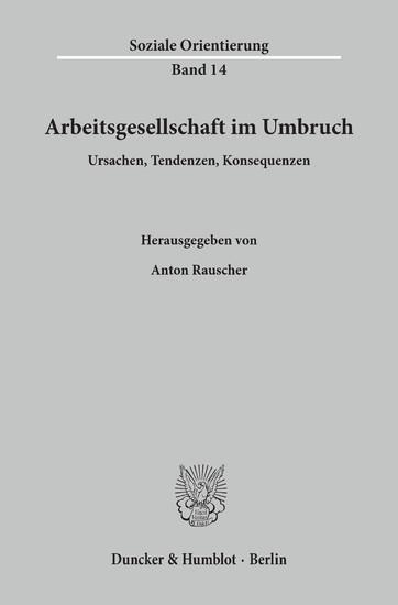 Arbeitsgesellschaft im Umbruch. - Blick ins Buch