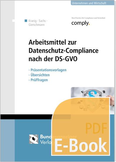 Arbeitsmittel zur Datenschutz-Compliance nach der DSGVO - Blick ins Buch