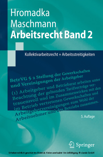 Arbeitsrecht Band 2 - Blick ins Buch