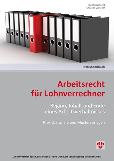 Arbeitsrecht für Lohnverrechner (Ausgabe Österreich) - Blick ins Buch