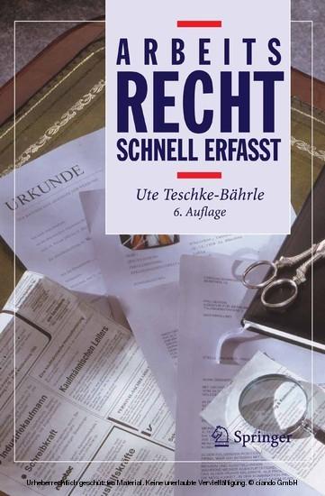 Arbeitsrecht - Schnell erfasst - Blick ins Buch