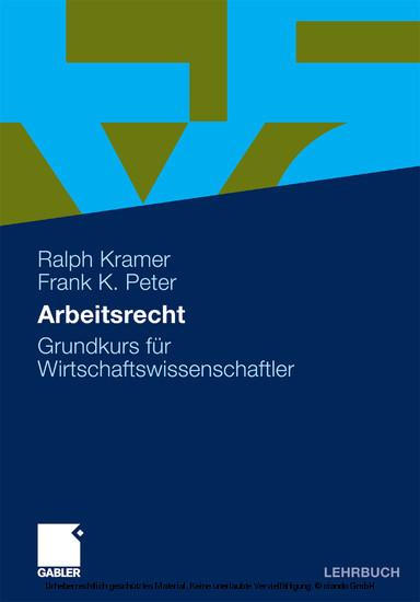 Arbeitsrecht - Blick ins Buch