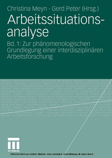 Arbeitssituationsanalyse - Blick ins Buch