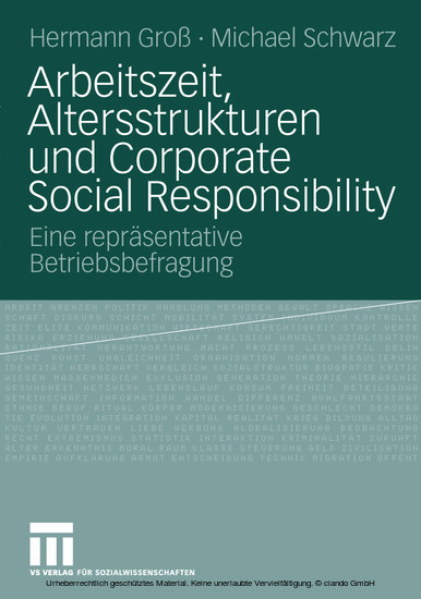 Arbeitszeit, Altersstrukturen und Corporate Social Responsibility - Blick ins Buch