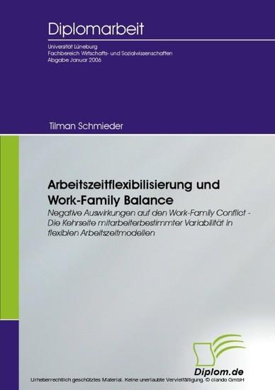 Arbeitszeitflexibilisierung und Work-Family Balance - Blick ins Buch