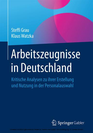 Arbeitszeugnisse in Deutschland - Blick ins Buch