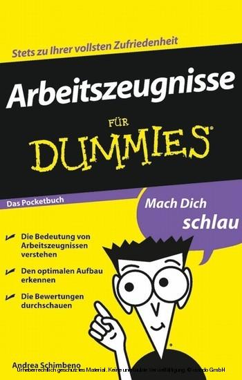 Arbeitszeugnisse für Dummies - Blick ins Buch