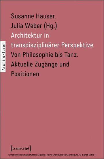 Architektur in transdisziplinärer Perspektive - Blick ins Buch
