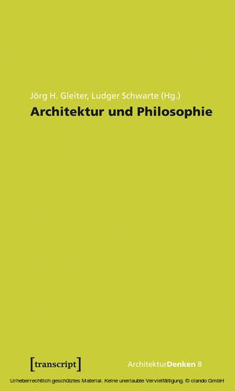 Architektur und Philosophie - Blick ins Buch